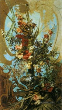 grosses blumenstuck flower Hans Makart Oil Paintings