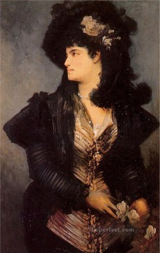 portrait of a lady Academic Hans Makart Oil Paintings