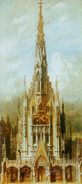 gotische grabkirche st michael turmfassade Academic Hans Makart Oil Paintings