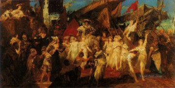 der einzug karls v in antwerpen entwurf Academic history Hans Makart Oil Paintings