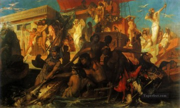 die niljagd der kleopatra Academic history Hans Makart Oil Paintings