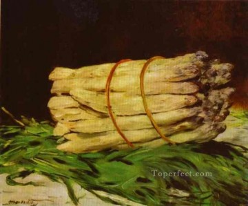 Edouard Oil Painting - A Bunch Of Asparagus still life Impressionism Edouard Manet