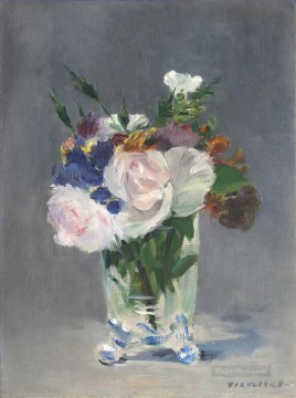 impressionism canvas - Flowers In A Crystal Vase 1882 flower Impressionism Edouard Manet