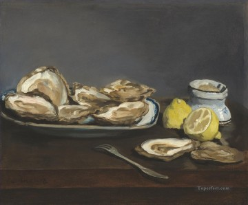 Oysters Eduard Manet Oil Paintings