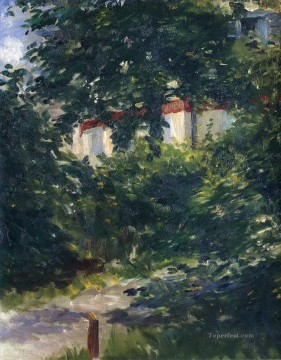 The garden around Manet house Eduard Manet Oil Paintings