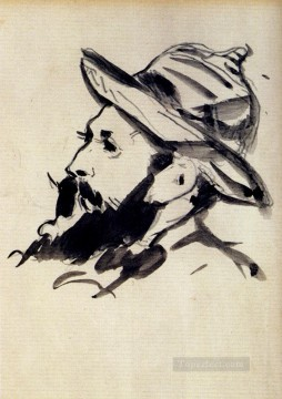 impressionism Painting - Head Of A Man Claude Monet Realism Impressionism Edouard Manet