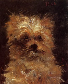 Head of a dog 马奈油画、国画