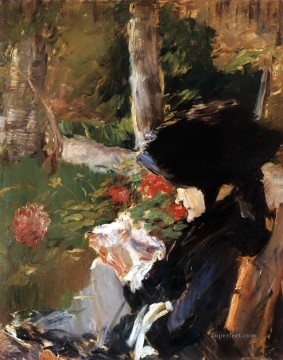 Mother in the Garden at Bellevue Eduard Manet Oil Paintings