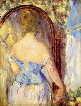 Woman Before a Mirror Eduard Manet Oil Paintings