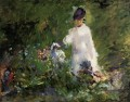 Young woman among the flowers Eduard Manet