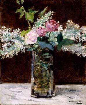 Rose Art - lilac and roses Eduard Manet