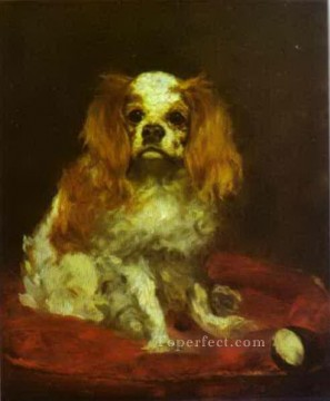 A King Charles Spanie Eduard Manet Oil Paintings