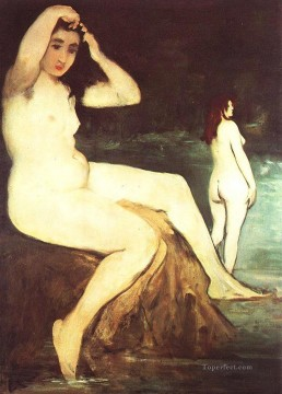 Impressionism Art Painting - Bathers on the Seine nude Impressionism Edouard Manet
