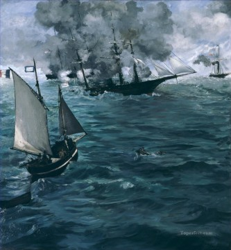 Battle Deco Art - Battle of Kearsage and Alabama Eduard Manet