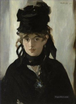 Berthe Morisot with a bouquet of violets Eduard Manet Oil Paintings