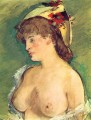 Blond Woman with Bare Breasts nude Impressionism Edouard Manet