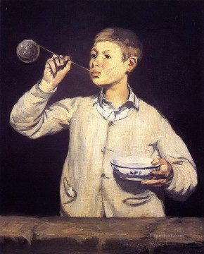 Boy Blowing Bubbles Eduard Manet Oil Paintings