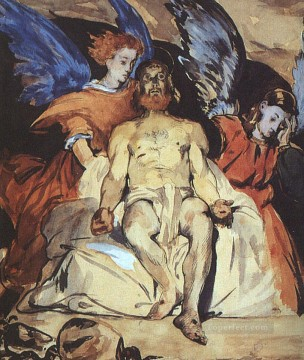 Edouard Oil Painting - Christ with Angels Realism Impressionism Edouard Manet