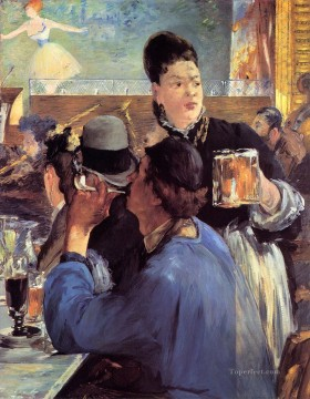 Corner of a CafeConcert Realism Impressionism Edouard Manet Oil Paintings