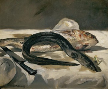 Eel and Red Mullet Eduard Manet Oil Paintings