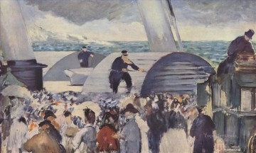 Embarkation after Folkestone Eduard Manet Oil Paintings