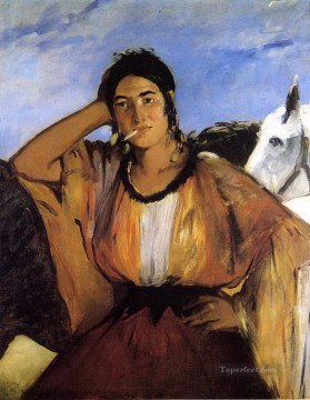 Gypsy with a Cigarette Eduard Manet Oil Paintings