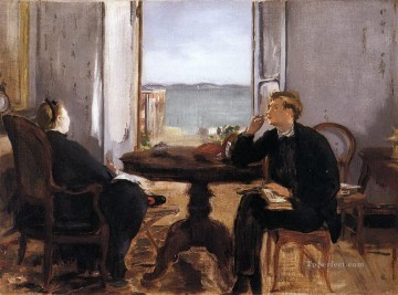 Edouard Manet Painting - Interior at Arcachon Eduard Manet