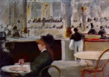 Interior of a Cafe Eduard Manet Oil Paintings