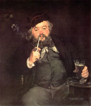 Impressionism Oil Painting - Le Bon Bock A Good Glass of Beer Realism Impressionism Edouard Manet