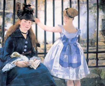 Le Chemin De Fer The Railroad Realism Impressionism Edouard Manet Oil Paintings