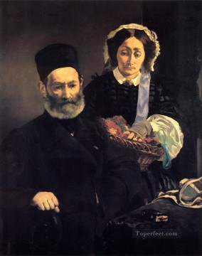 M and Mme Auguste Manet Realism Impressionism Edouard Manet Oil Paintings