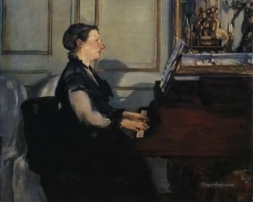 Madame Manet at the Piano Eduard Manet Oil Paintings