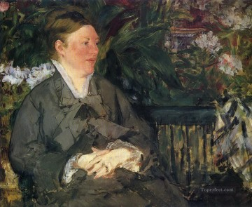 Madame Manet in conservatory 马奈油画、国画