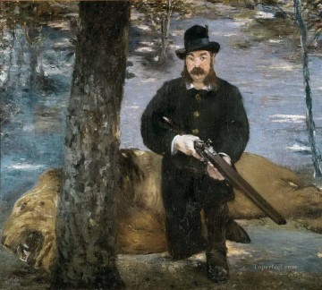 hunt Painting - Pertuiset Lion Hunter Eduard Manet