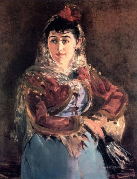 Edouard Oil Painting - Portrait of Emilie Ambre in the role of Carmen Realism Impressionism Edouard Manet