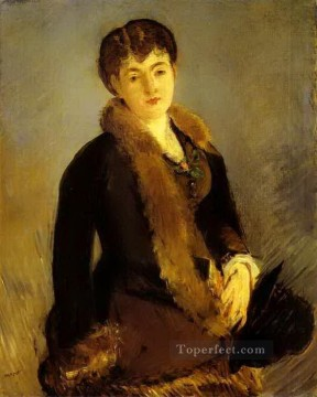 Made Oil Painting - Portrait of Mademoiselle Isabelle Lemonnier Eduard Manet