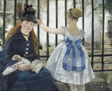 Railway Eduard Manet Oil Paintings