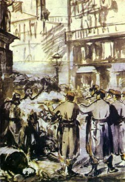 The Barricade Civil War Eduard Manet Oil Paintings