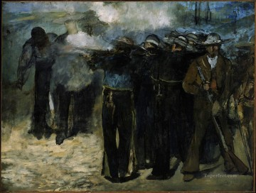 AX Painting - The Execution of Emperor Maximilian draft Eduard Manet