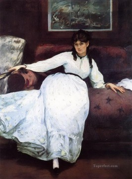 The Rest portrait of Berthe Morisot Eduard Manet Oil Paintings