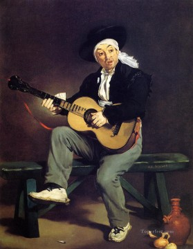Edouard Oil Painting - The Spanish Singer The Guitar Player Realism Impressionism Edouard Manet