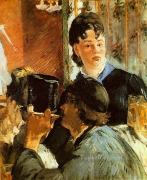 impressionism canvas - The Waitress Realism Impressionism Edouard Manet