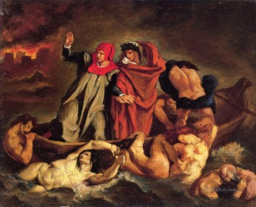 The barque of Dante Copy after Delacroix Eduard Manet Oil Paintings
