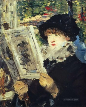 Woman Reading Eduard Manet Oil Paintings
