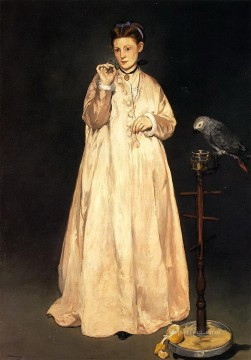 Woman with a Parrot Eduard Manet Oil Paintings