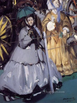 horce races racing Painting - Women at the Races Eduard Manet