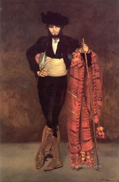 Edouard Oil Painting - Young Man in the Costume of a Majo Realism Impressionism Edouard Manet