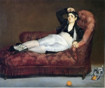 Young Woman Reclining in Spanish Costume Eduard Manet Oil Paintings
