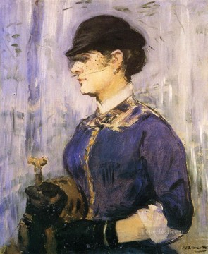 Young woman in a round hat Eduard Manet Oil Paintings