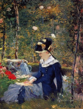 Young woman in the garden Eduard Manet Oil Paintings
